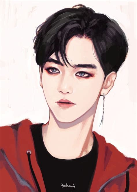baekhyun exo art monster exo fanart pinterest