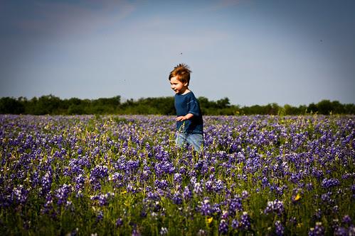 little boy on the prairie