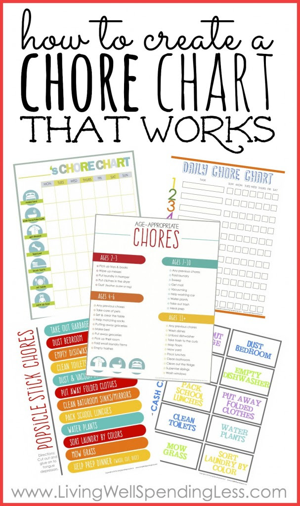 How to Create a Chore Chart That Works - Living Well Spending Less®
