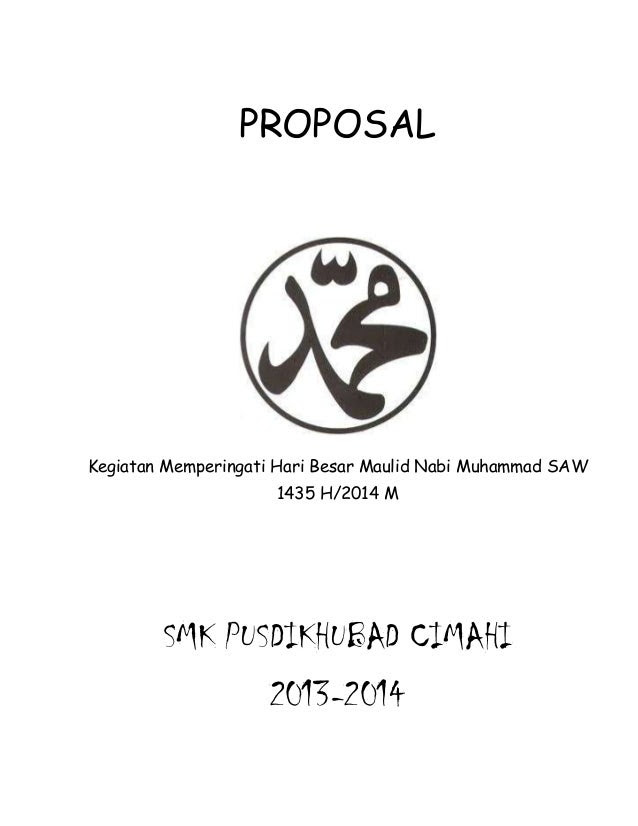 Contoh Cover Proposal Maulid Nabi Muhammad Saw Contoh Bee