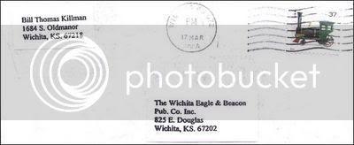 Envelope Mailed by BTK serial killer