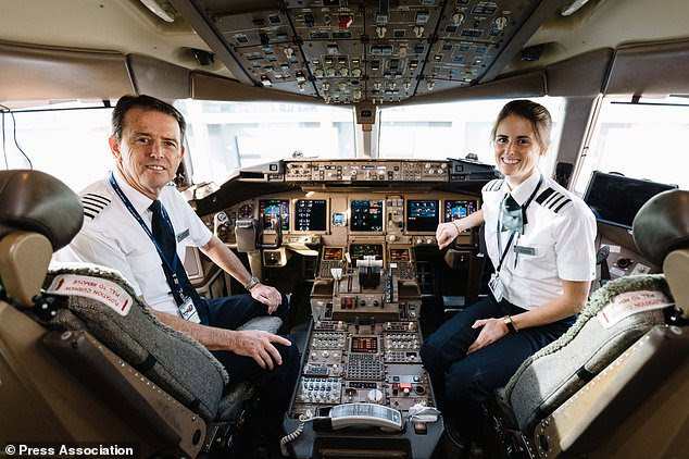 David and Kat Woodruffe landed at Heathrow after completing Mr Woodruffe's retirement flight from New York