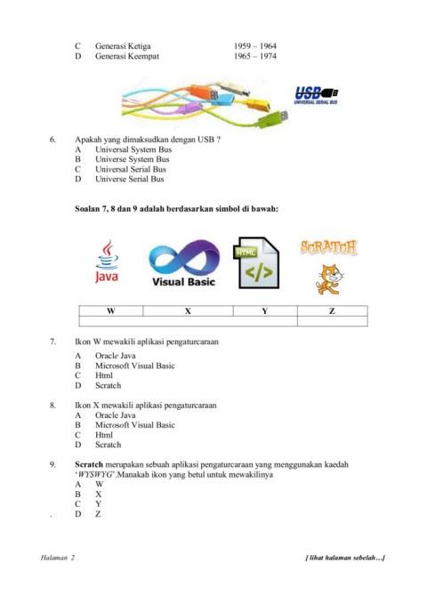 Soalan Tmk Teknologi Maklumat Komunikasi Tahun 6 Ujian 1 Bulan Mac 2017 Flip Ebook Pages 1 12 Anyflip Anyflip