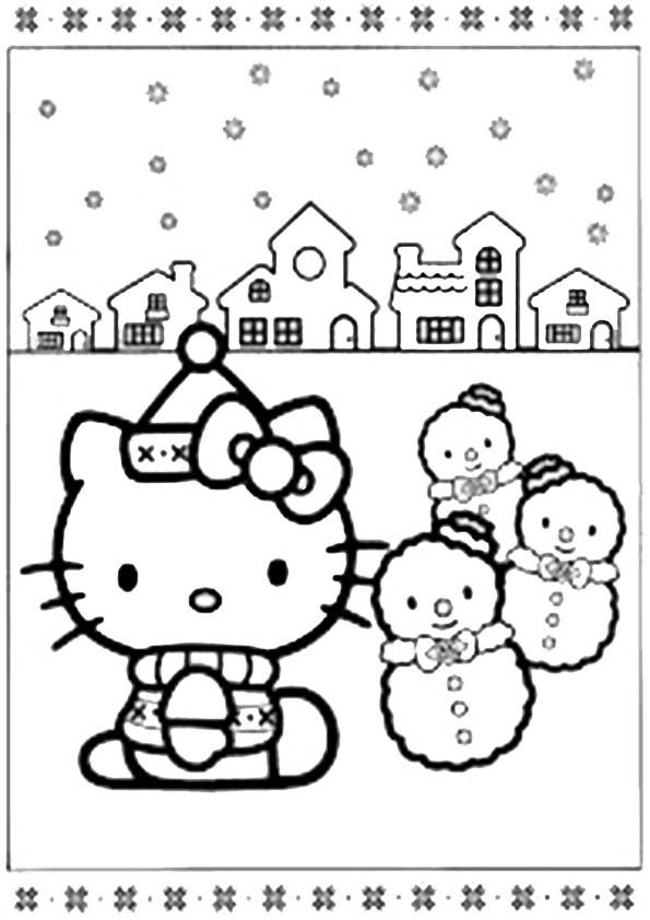 hello kitty ausmalbilder weihnachten  hello kitty