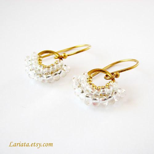 beadwoven earrings Dancing Fan