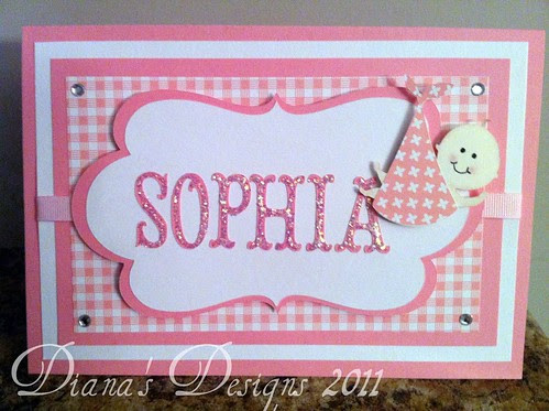 Personalized New Arrival Card - Baby Girl