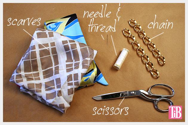 Scarf Chain Wrap Bracelet DIY Supplies