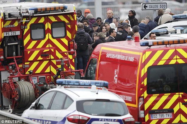 The airport was evacuated after the shooting, which happened at 8.30am today, less than two hours after the 39-year-old man had fired at three police officers on the opposite side of the city