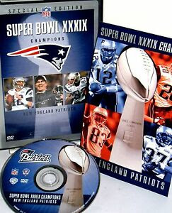 NFL Super Bowl XXXIX New England Patriots 2004 DVD,NEW FREE SHIP Game Highlights 12569691650  eBay