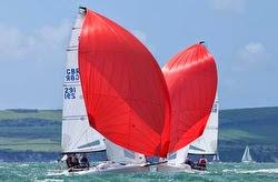 J/70s sailing under spinnaker