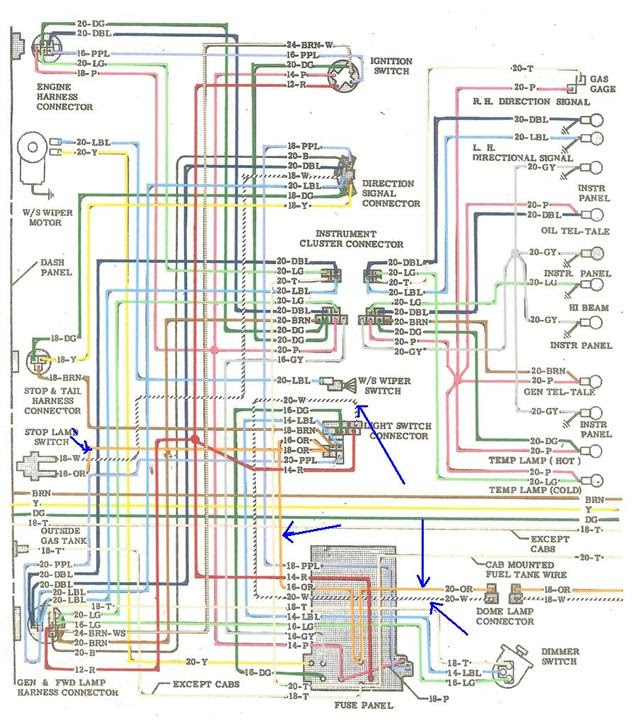 Panel From Chevy Tail Light Wiring Diagram Tail Light Fuse ...