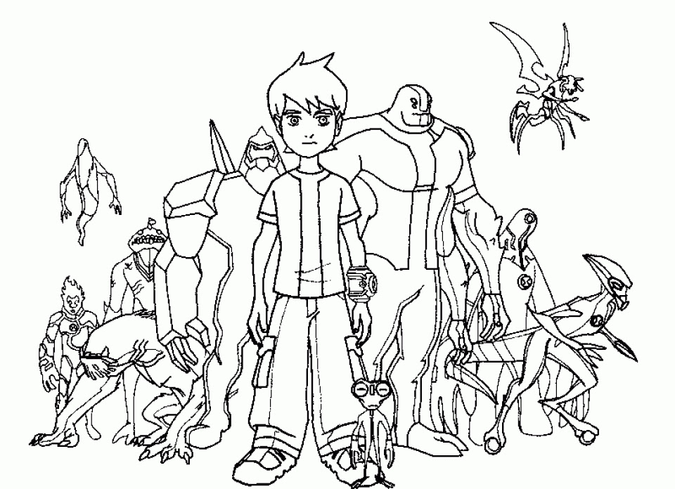 Ben 10 Coloring Pages Free Coloring And Drawing