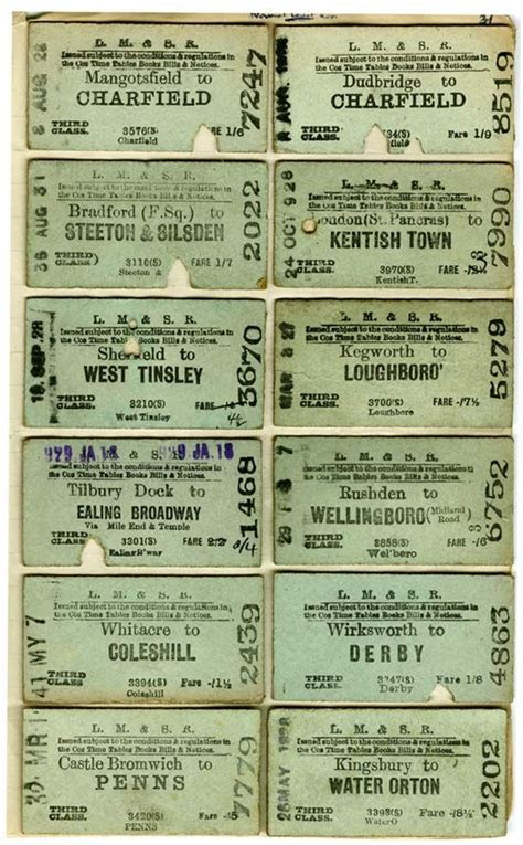 27 best Vintage Train Tickets images on Pinterest   Train