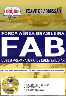 Exame de Admissão FAB 2018-CURSO PREPARATÓRIO DE CADETES DO AR