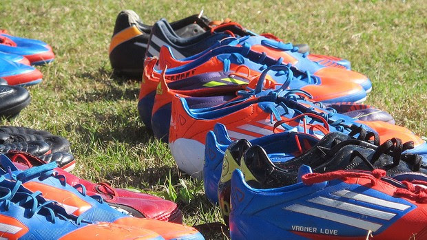 Chuteiras, Flamengo (Foto: Janir Júnior / Globoesporte.com)