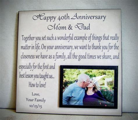 Anniversary Picture Frame Gift 40th by YourPictureStory on