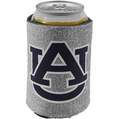 Auburn Tigers 12oz. Glitter Can Koozie - Silver