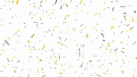 Falling Golden Confetti On Black Background. HQ Seamless