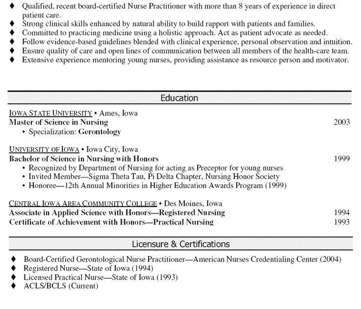 nurse practitioner fnp resume sample  resume examples