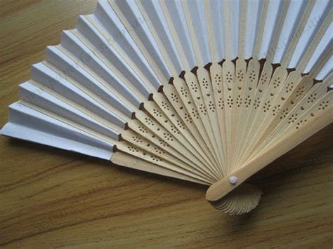 Wedding decoration fan white bamboo paper fan   paperfans