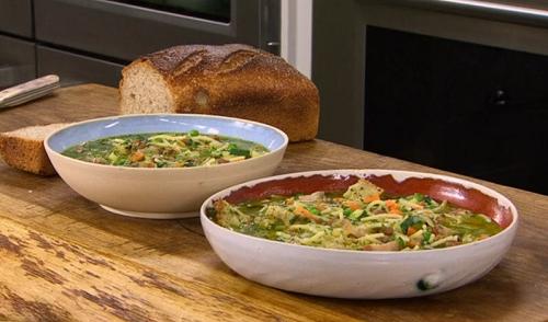 James Martin pistou soup with spaghetti and bacon recipe ...