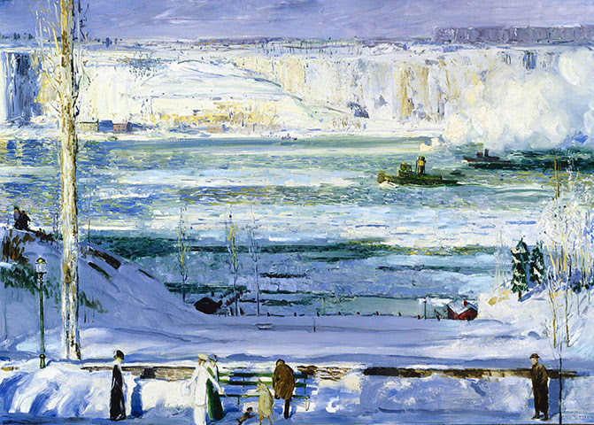 George Bellows: George Bellows, Snow-Capped River, 1911