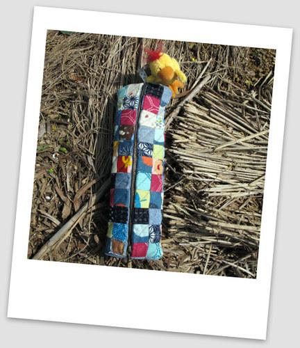 pencil_case on hay_polaroid
