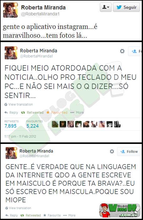 Blog Viiish - O Twitter da Roberta Miranda é uma mina de ouro!