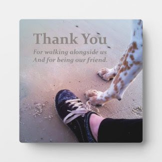 We Thank You Display Plaque