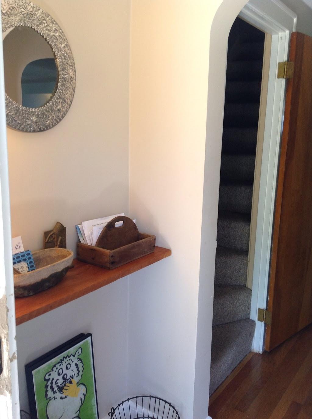 Entryway shelf & mail caddy   ShizIBoughtToday