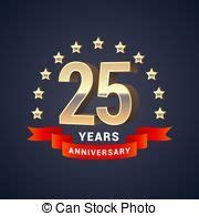 25th anniversary 3d . Illustration 3d silver text simple