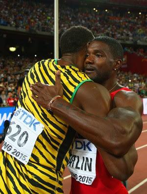 Usain Bolt Justin Gatlin Mundial de Atletismo de Pequim (Foto: Ian Walton / Getty Images)