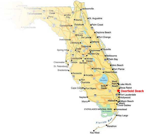 Where Is Deerfield Beach Florida On The Map Of Florida | Florida Map on
