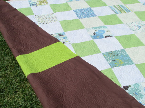 Leigh's quilt #1 with back