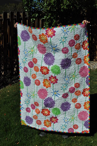 Fruit Stipe Quilt ~ Back