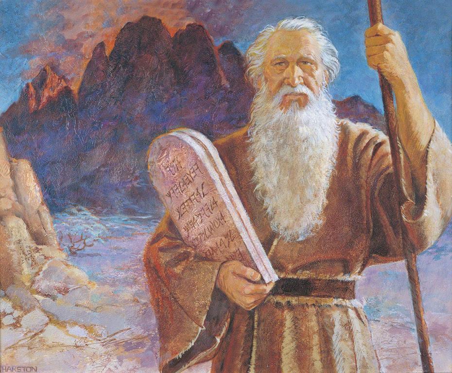 moses ten commandments 37729 print