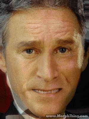 The faces of Jon Stewart and George Bush combined together -