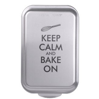 Kitchen Gifts Cake Pan Keep Calm and Bake On Whisk