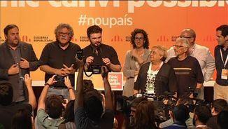 Eufòria en la lectura dels resultats a Catalunya al Born Centre Cultural