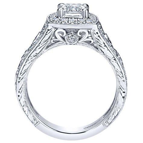 Gabriel & Co. Engagement Rings .66ctw Diamonds Halo Setting