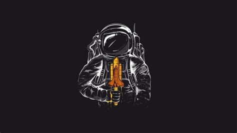humor simple background space astronaut wallpapers