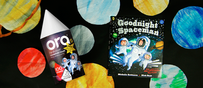 Create your own space scene with this simple craft activity