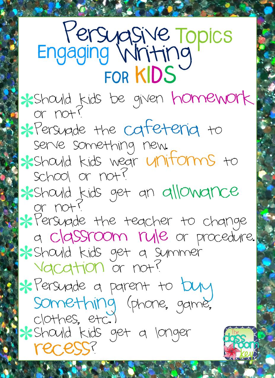 topics for writing an argumentative essay