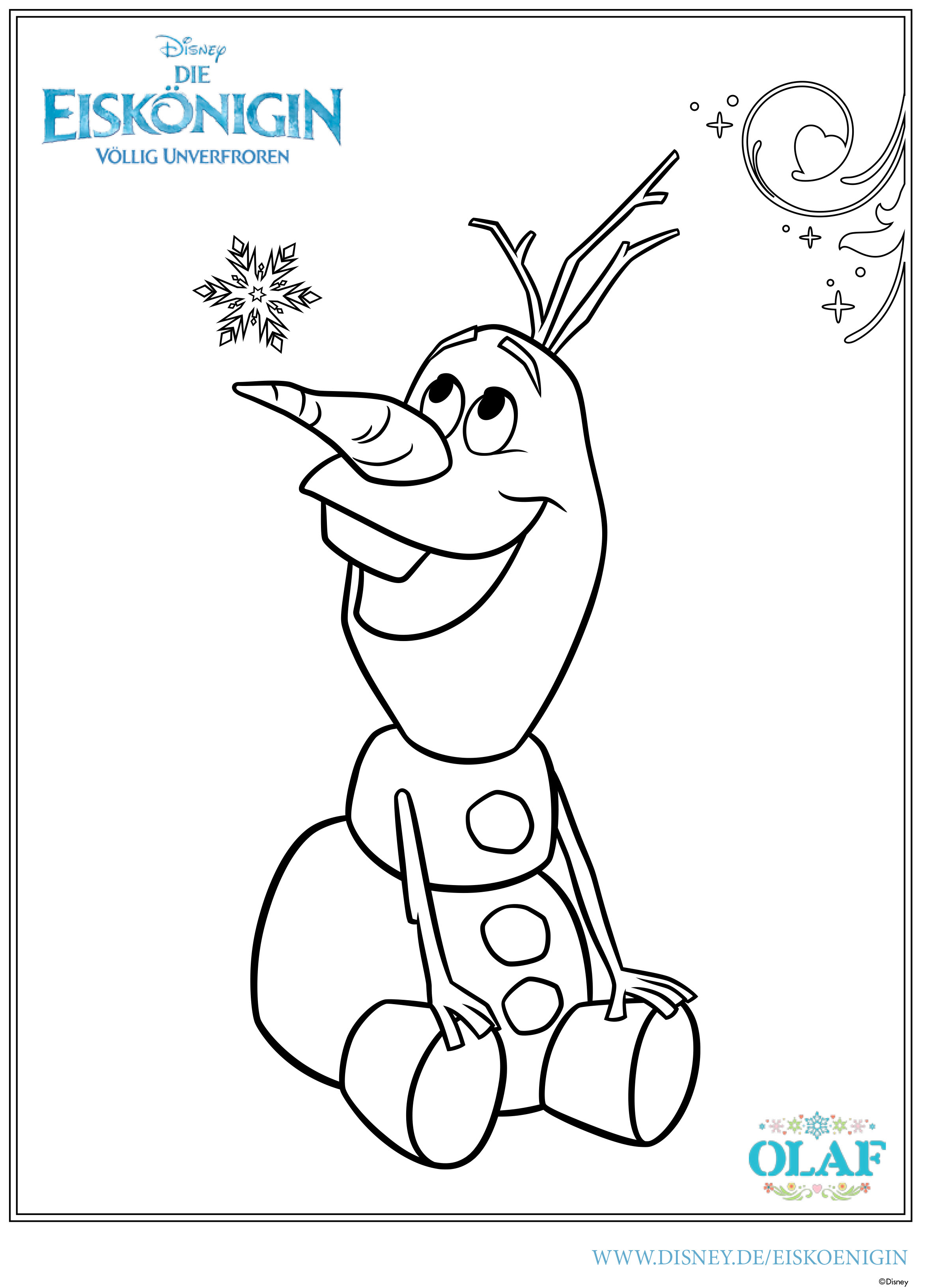 Ausmalbild Olaf