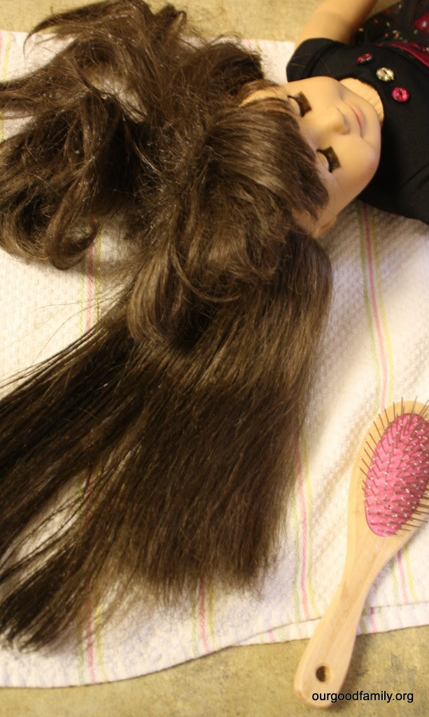 How to Untangle and Manage American Girl Doll Hair * Our ...