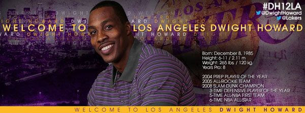 Dwight Howard is now a Los Angeles Laker, as of August 10, 2012.