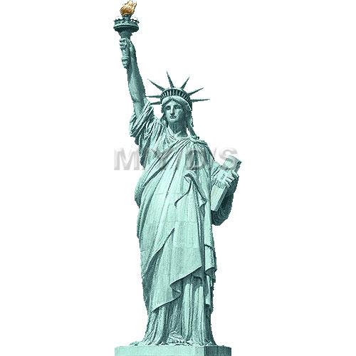 自由の女神像ニュー ヨークのイラスト条件付フリー素材集