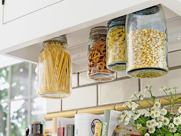 Schone Herbstdeko Selber Machen : Hanging Mason Jar Storage
