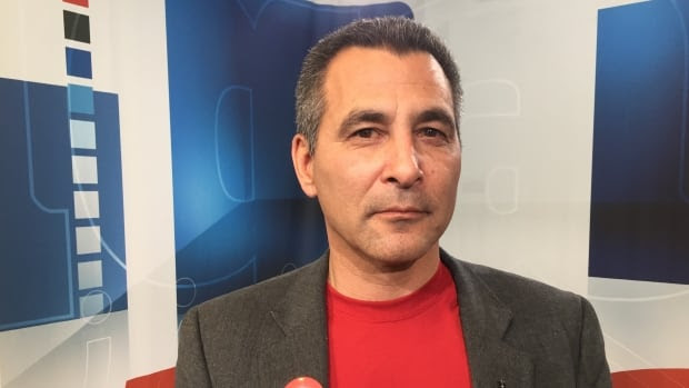 Nunavut MP Hunter Tootoo is seen at the CBC studio in Iqaluit in October 2015.