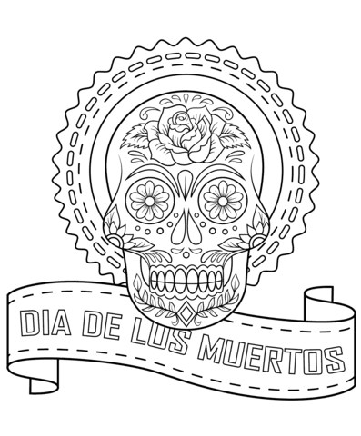 Dibujos Para Colorear Calaveras Dia Muertos